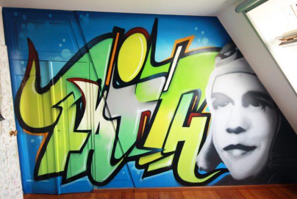 Lourdes Graffiti-Raum