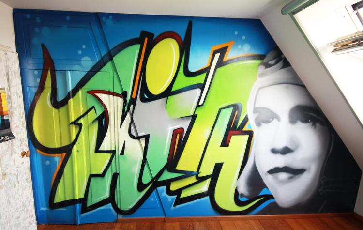 Lourdes graffiti kamer