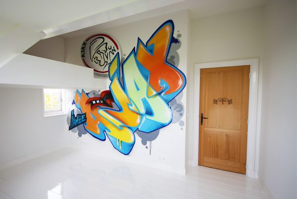 Children's room wall painting