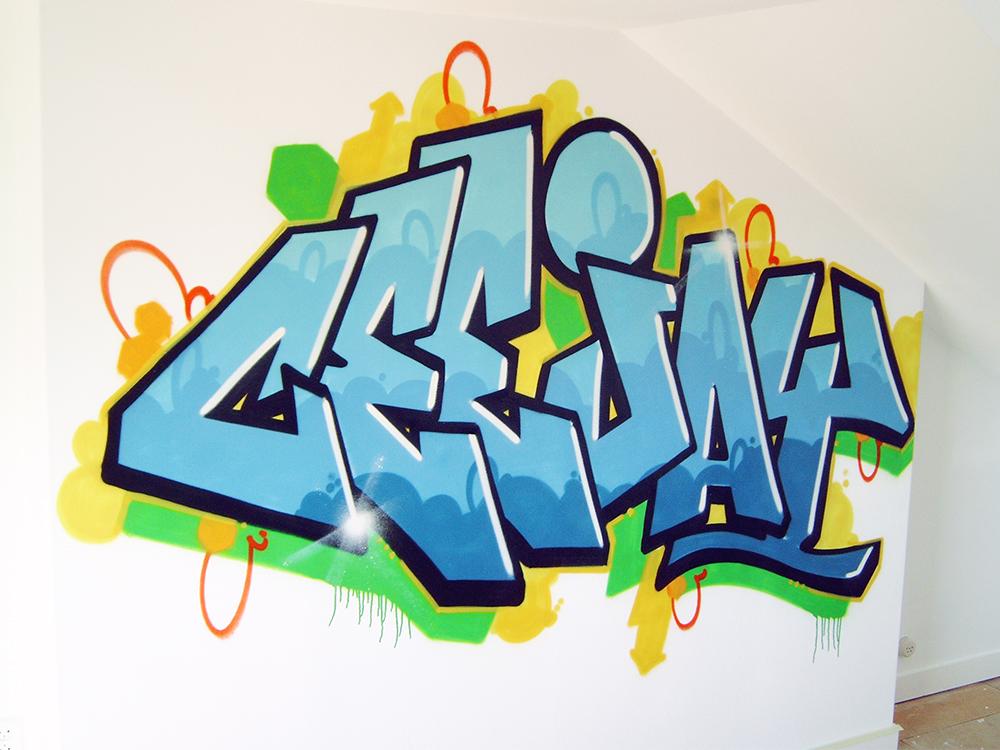 جدار Ceejay الكتابة على الجدران