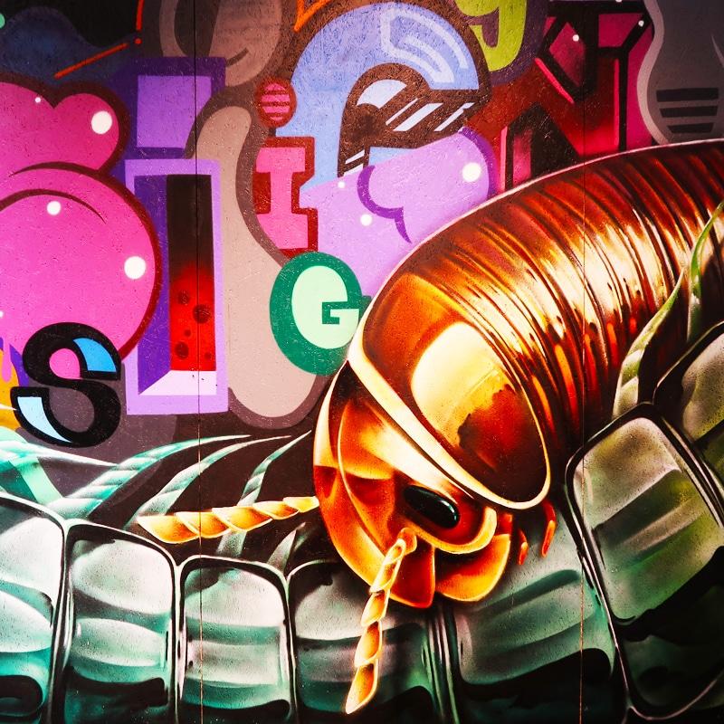 Street art customizing and live art