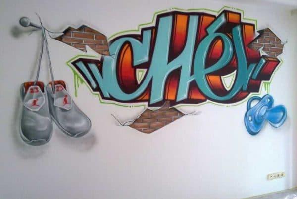 غرفة الكتابة على الجدران تشي
