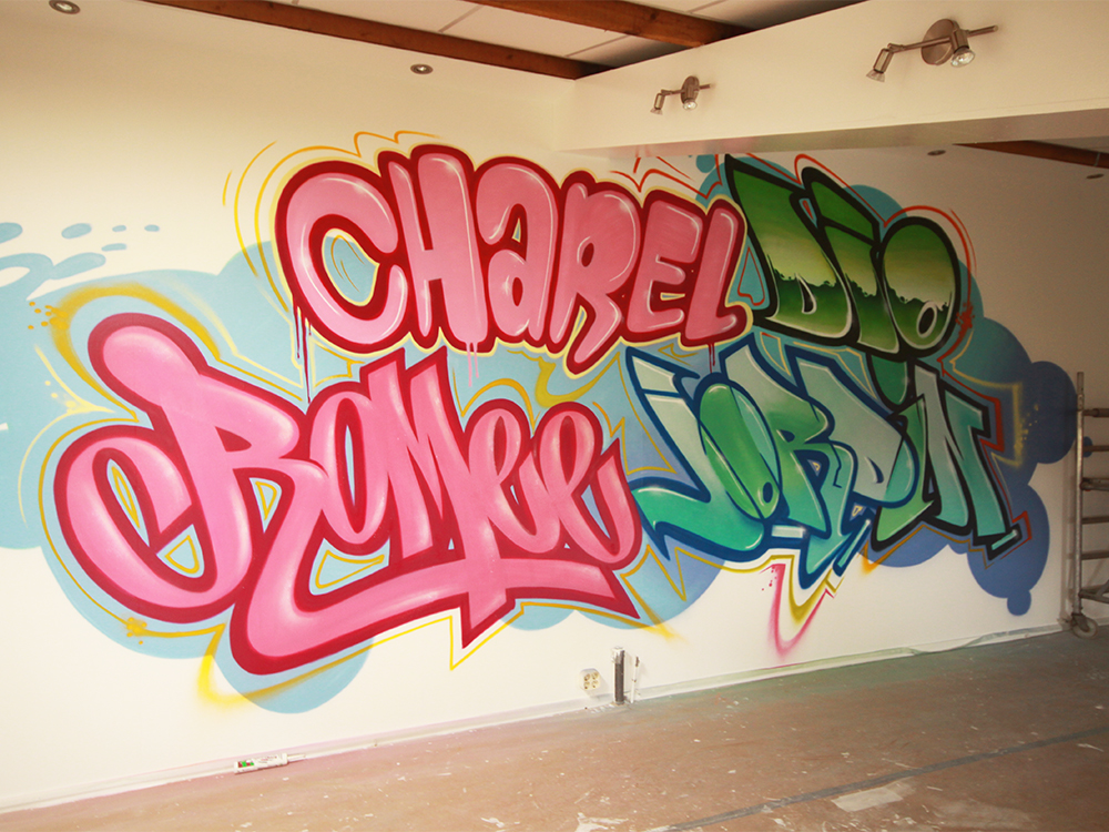 Graffiti names playroom