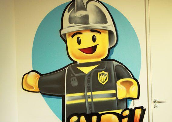 Lego väggmålning