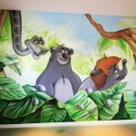 Mural do quarto da selva