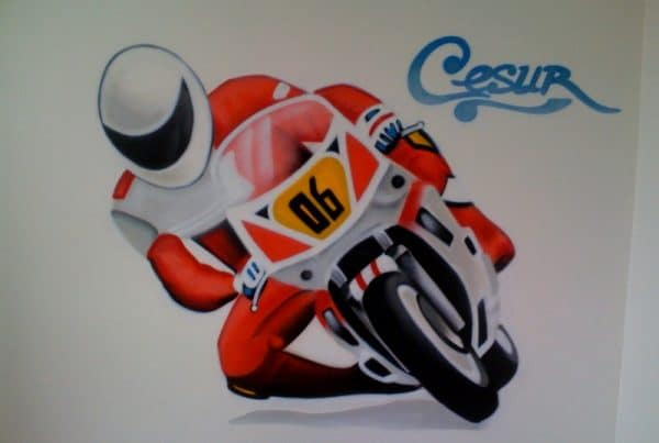 Graffiti painting Cesur