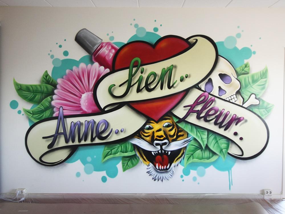 Street art namn & hjärta