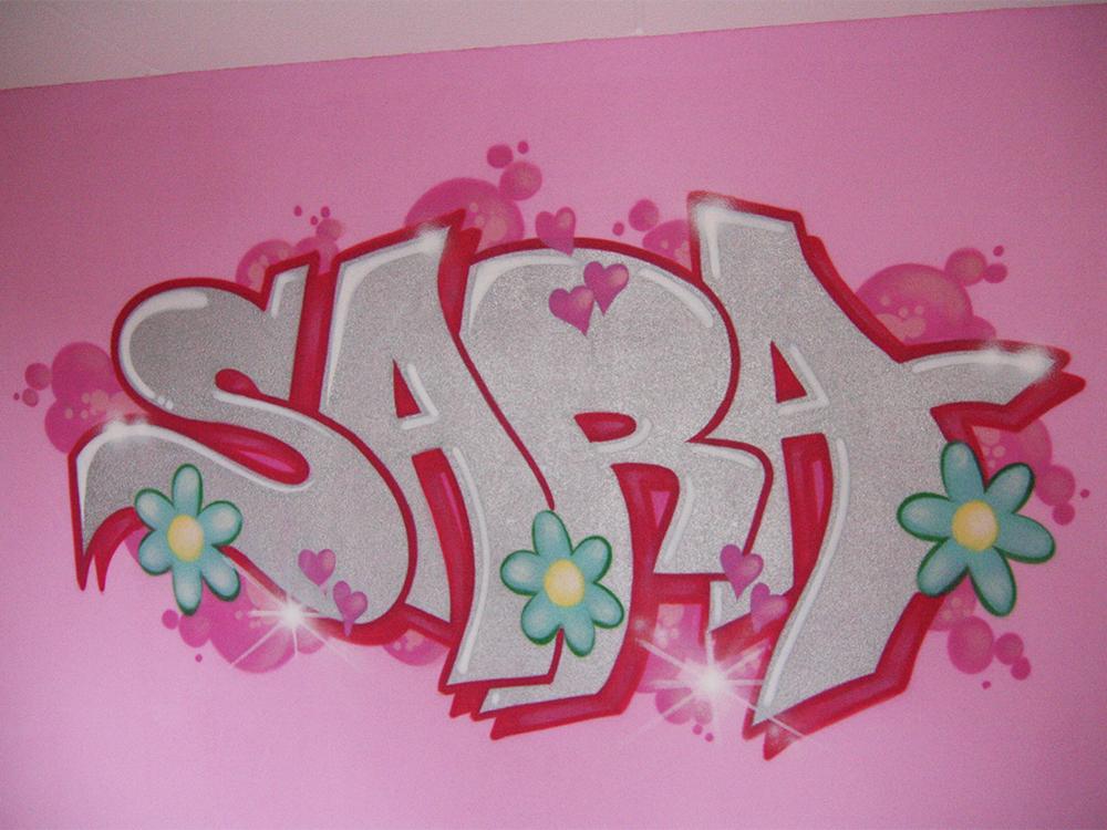 Graffiti-Raum Sara