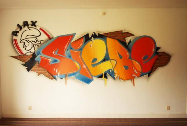 Graffiti-Raum Siebe