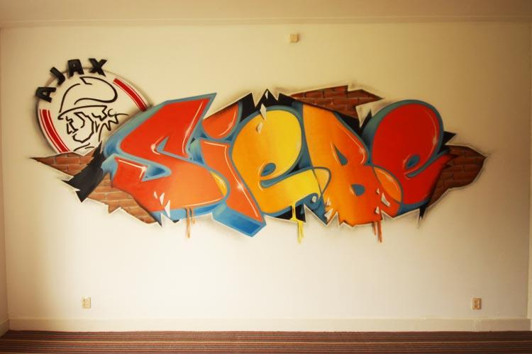 Graffiti rum Siebe