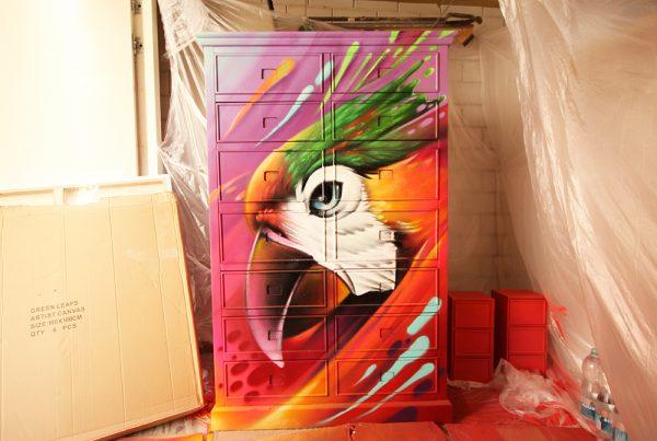 Armário de arte de rua