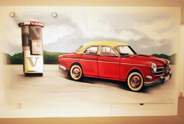 Wall painting Volvo