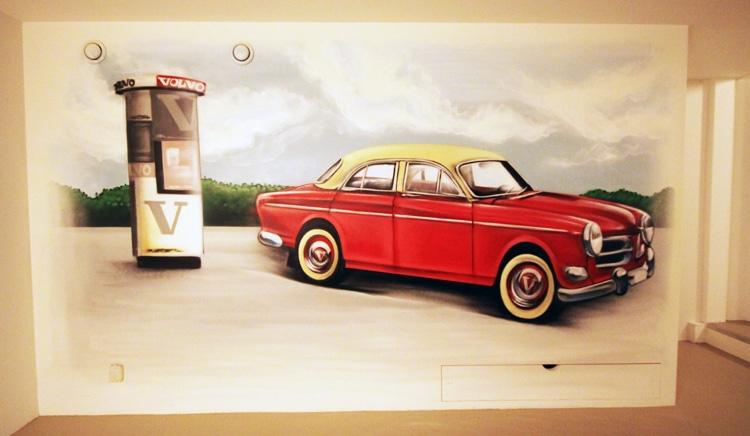 Wandmalerei Volvo