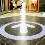 Gobo-Projektion auf dem Boden