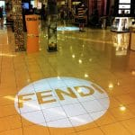 Projection on a shop floor