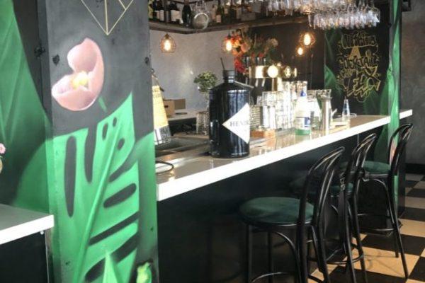 Muurschilderingen bij restaurant Kite in Rotterdam
