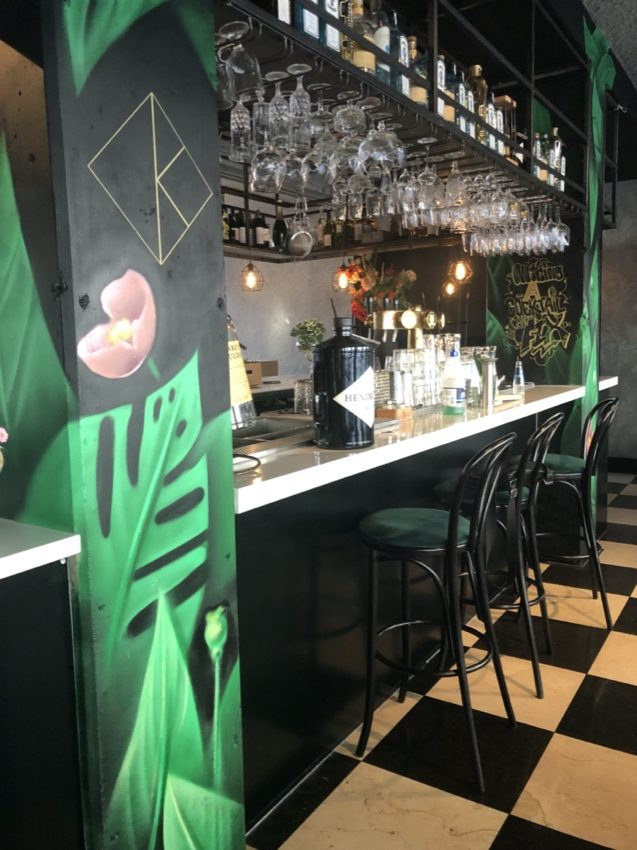Murais no restaurante Kite in Rotterdam