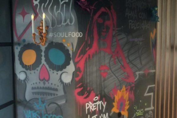 Street-art schilderingen
