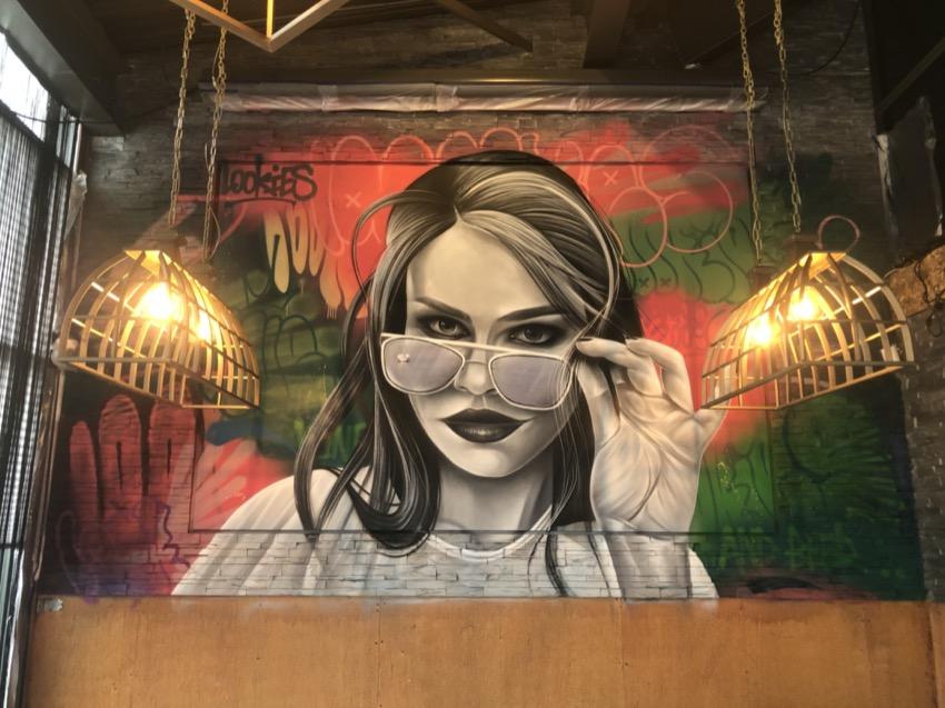 Peinture murale Street-art Brasserie Lookies