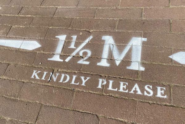 1,5 meter distance markings