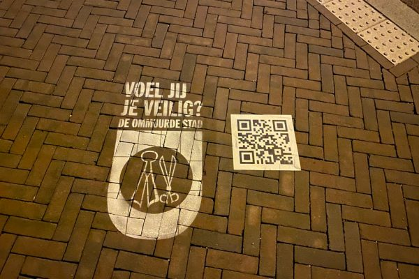 Chalk stamps and QR codes in Utrecht