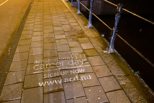 Chalk advertising Amsterdam Career Days