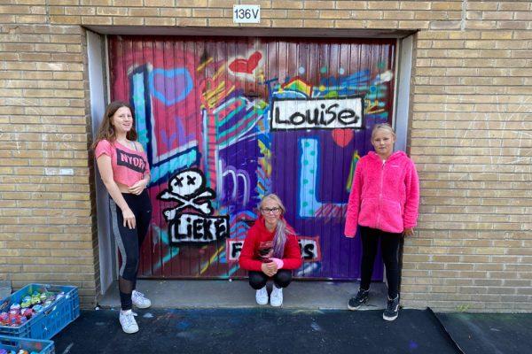 Participation du quartier à travers des ateliers de graffitis