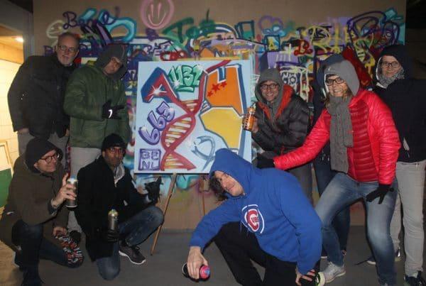 Graffiti bedrijfsuitje Alnylam