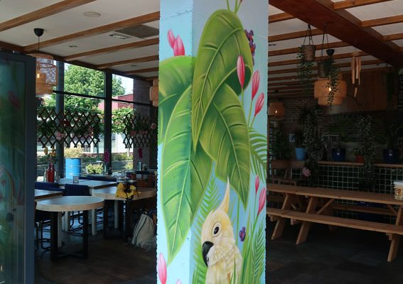 Glad väggmålning Bon Chef