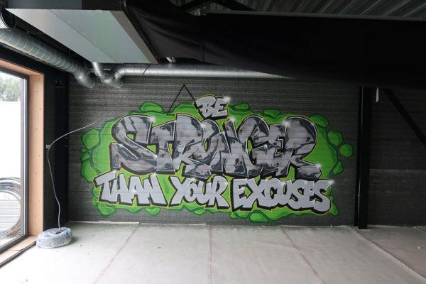 Espace de train de peinture graffiti