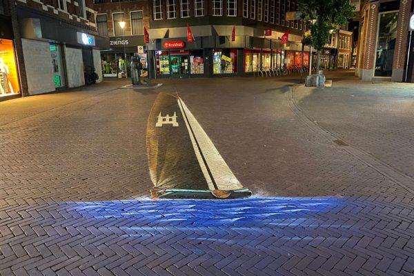 Pintura callejera 3D en Sneek