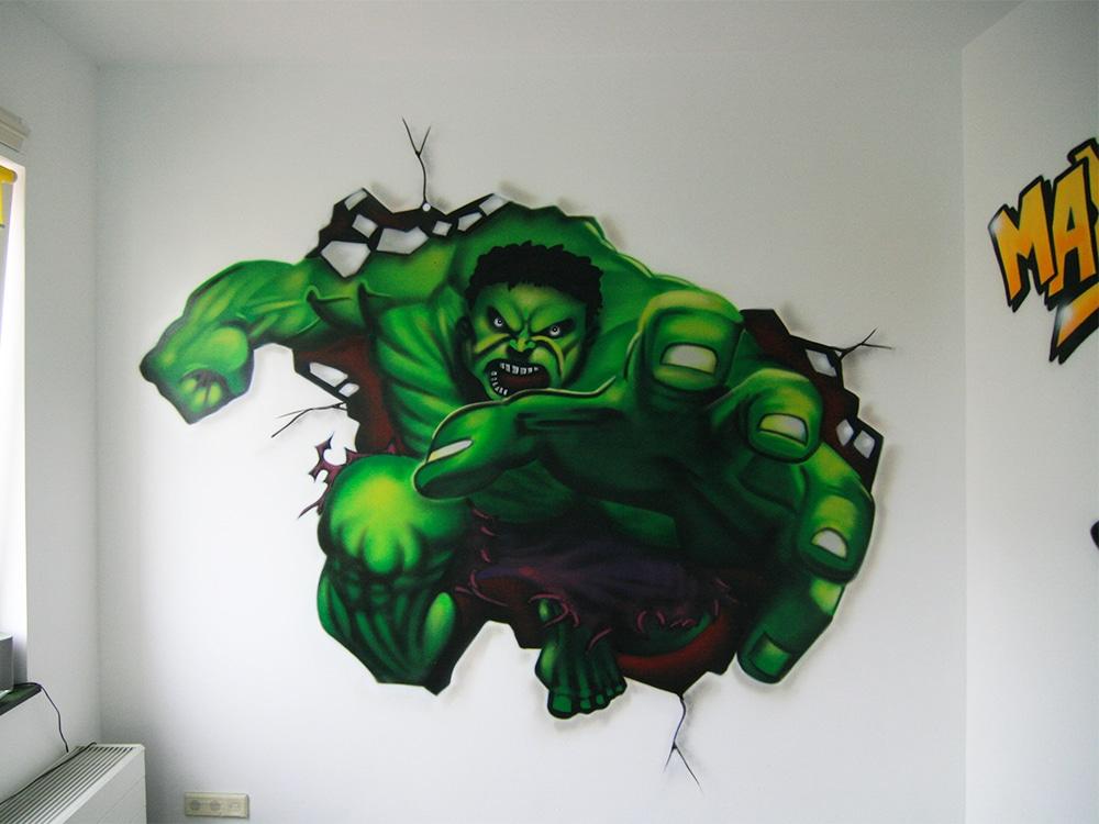 Peinture murale Hulk en pépinière