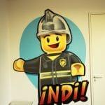 Lego painting for Indi