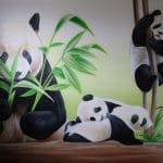 murale de panda