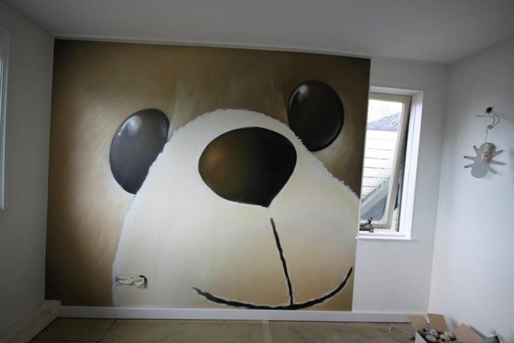 Peinture murale Panda