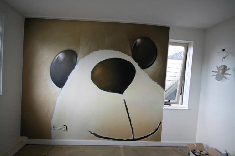 Panda veggmaleri