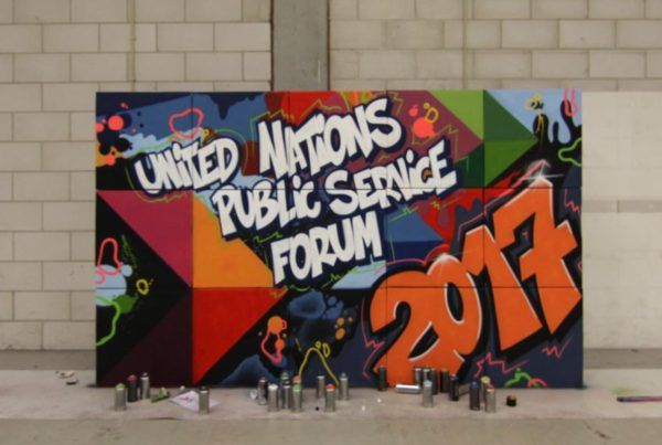 Живопись ООН на государственной службе форума 2017