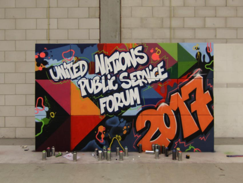 Schildering UN Public Service Forum 2017